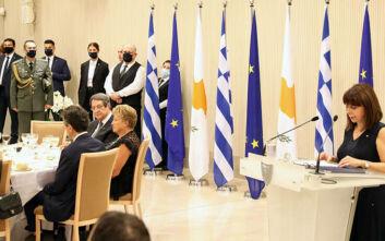 Σακελλαροπούλου: Δεν θα υποκύψουμε σε απειλές, προκλήσεις και εκφοβισμούς