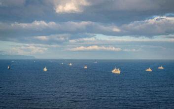 Ελληνικά πολεμικά πλοία προσεγγίζουν εκ νέου το Καστελόριζο μετά την προκλητική τουρκική Navtex