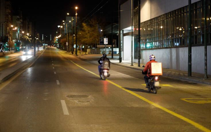 Απαγορεύονται το delivery μετά τα μεσάνυχτα σε Χανιά και Ηράκλειο