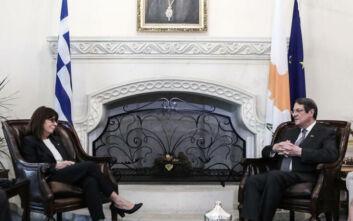 Σακελλαροπούλου: Ελλάδα και Κύπρος έχουν ενιαίο αρραγές διπλωματικό μέτωπο με γνώμονα πάντα το κοινό εθνικό συμφέρον