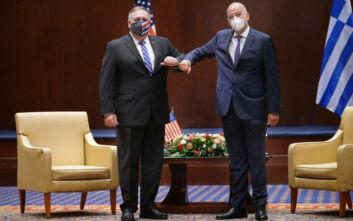 Κοινή δήλωση Ελλάδας- ΗΠΑ: Όσα είπαν Πομπέο και Δένδιας στη Θεσσαλονίκη