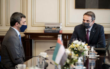 Συνάντηση Μητσοτάκη με τον Υπουργό Εξωτερικών των Ηνωμένων Αραβικών Εμιράτων