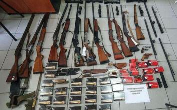 Oπλοστάσιο βρέθηκε στο Κιλκίς: Κυνηγετικά όπλα, 1.200 φυσίγγια, ξιφολόγχες