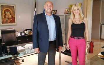 Συνάντηση της Έλενας Ράπτη με τον Πρόεδρο του ΕΚΑΒ  Νίκο Παπαευσταθίου