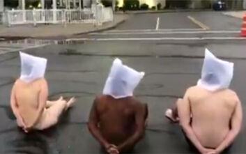 Γυμνή διαμαρτυρία στη Νέα Υόρκη για τον θάνατο ενός ακόμη Αφροαμερικανού