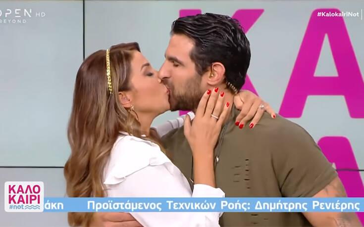 Χατζίδου και Παύλου αποχαιρέτησαν το τηλεοπτικό κοινό με ένα παθιασμένο φιλί