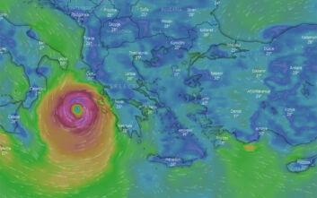 Καιρός - Ιανός: Δείτε λεπτό προς λεπτό την πορεία του κυκλώνα - LIVE εικόνα από την Κεφαλλονιά και την Κέρκυρα