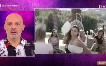 Αιχμηρό σχόλιο του Μουτσινά για τον τουρτοπόλεμο του «Bachelor»: «Πραγματικά ξεφτίλα»