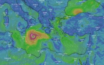 Κακοκαιρία Ιανός: Προ των πυλών ο μεσογειακός κυκλώνας - Δείτε LIVE την πορεία του