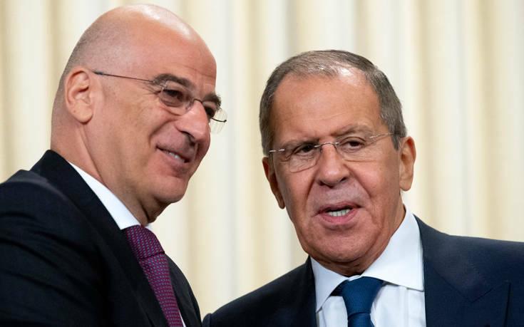 Επικοινωνία Δένδια - Λαβρόφ για τις σχέσεις Ελλάδας - Ρωσίας
