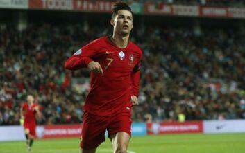 Γράφει ιστορία ο Ρονάλντο - Έφτασε στα 100 γκολ με την εθνική Πορτογαλίας