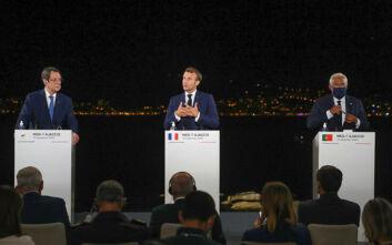 Μακρόν για Μεσόγειο: Το ηγεμονικό παιχνίδι της Τουρκίας έχει στόχο να αποσταθεροποιήσει την περιοχή