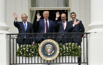 Υπογράφηκαν οι συμφωνίες ομαλοποίησης των σχέσεων του Ισραήλ με το Μπαχρέιν και τα ΗΑΕ