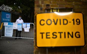Εκρηκτική αύξηση 167% στα κρούσματα κορονοϊού που έχουν διαγνωστεί στην Αγγλία