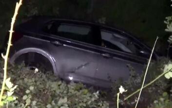 Τυχερή μέσα στην ατυχία της οδηγός που έπεσε με το αυτοκίνητό της σε χαράδρα 20 μέτρων