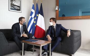 Απόλυτη συμφωνία Μητσοτάκη - Μακρόν για την Τουρκία: «Σταματούν οι προκλήσεις αλλιώς κυρώσεις»