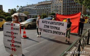 Πορεία Κούρδων προσφύγων προς την τουρκική πρεσβεία της Αθήνας