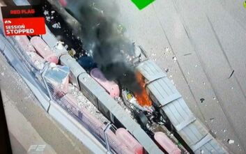 Tρομερό ατύχημα και διακοπή του αγώνα της Formula 2 στη Ρωσία