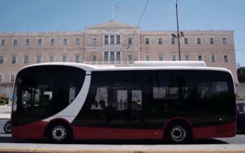 Ηλεκτρικό λεωφορείο κάνει τις πρώτες του βόλτες στους δρόμους της Αθήνας