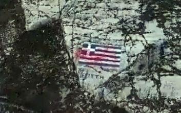 Ψάχνουν πώς οι Τούρκοι δολιοφθορείς έριξαν τη μπογιά στην ελληνική σημαία στο Καστελόριζο