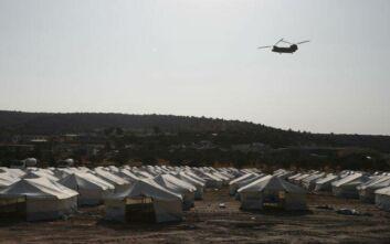 Μυτιλήνη: 1200 μετανάστες και πρόσφυγες στον προσωρινό καταυλισμό του Καρά Τεπέ