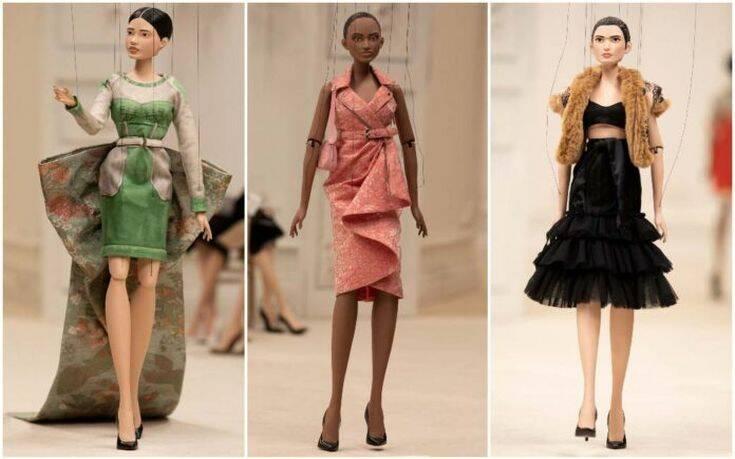 Επίδειξη μόδας με μαριονέτες από τον οίκο μόδας Moschino