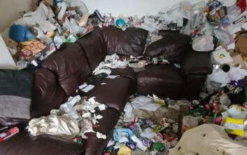 Συνεργείο καθαρισμού μπήκε σε σπίτι, αντίκρισε... «έναν τεράστιο σκουπιδοτενεκέ»