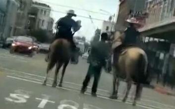 Αποζημίωση 1 εκατ. δολαρίων ζητά ο Αφροαμερικανός που περιέφεραν δεμένο με σκοινί στον δρόμο λευκοί έφιπποι αστυνομικοί