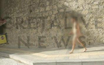 Νεαρός διέσχισε ολόγυμνος το μισό Ηράκλειο Κρήτης