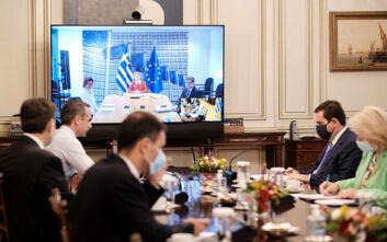 Τηλεδιάσκεψη Μητσοτάκη - Φον ντερ Λάιεν: «Έχουμε φιλόδοξες μεταρρυθμιστικές ιδέες»