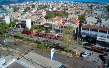 Οι καταστροφές στο Νέο Ηράκλειο από ψηλά – Τρεις τραυματίες από την κακοκαιρία