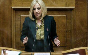 Γεννηματά: «Ο κ. Τσίπρας με την πρόταση μομφής επί της ουσίας εξυπηρετεί την κυβέρνηση της Νέας Δημοκρατίας»