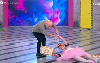 Καλό μεσημεράκι: «Προσγειώθηκε» στο πάτωμα η Βάνια