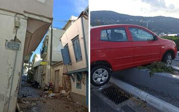 Φωτογραφίες και βίντεο από τη Σάμο μετά τον ισχυρό σεισμό - Η θάλασσα βγήκε στη στεριά