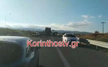 Κλειστός ο αυτοκινητόδρομος Κορίνθου - Πατρών στο ύψος του Ζευγολατιού