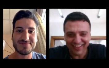 Κορονοϊός: Η βιντεοκλήση του Βασίλη Κικίλια με τον 25χρονο Πέτρο που διασωληνώθηκε