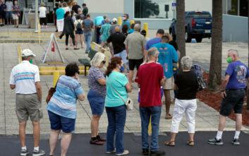 Ουρές έξω από τα εκλογικά κέντρα στη Φλόριντα - Τριάντα εκατομμύρια Αμερικανοί ψηφοφόροι έχουν ήδη ψηφίσει