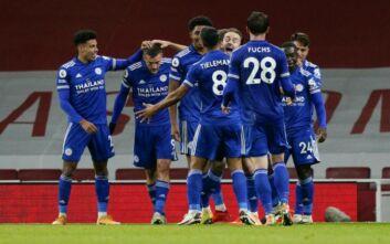 Premier League: Η Λέστερ νίκησε την Άρσεναλ πριν το ματς με την ΑΕΚ