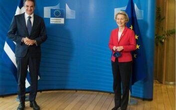 Φον Ντερ Λάιεν για συνάντηση με Μητσοτάκη: Ανάγκη για αποκλιμάκωση στην Ανατολική Μεσόγειο