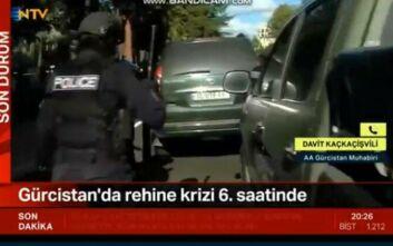 Περιστατικό ομηρίας σε τράπεζα στη Γεωργία - Ένοπλος κρατά τουλάχιστον 17 άτομα