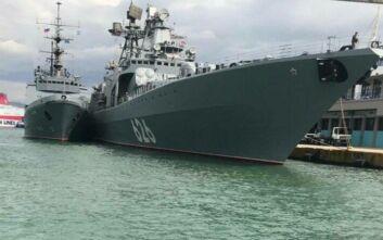 Στον Πειραιά το μεγάλο ρωσικό ανθυποβρυχιακό πλοίο «Αντιναύαρχος Kulakov»