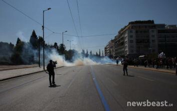 Επίθεση κατά του συνεργείου της ΕΡΤ στη διάρκεια του πανεκπαιδευτικού συλλαλητηρίου