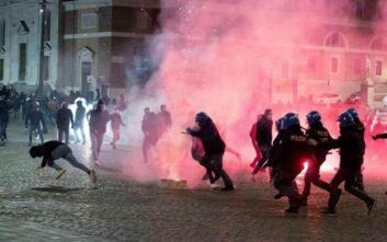 Επεισόδια στη Ρώμη μεταξύ ακροδεξιών που αντιτίθενται στην απαγόρευση κυκλοφορίας και αστυνομικών