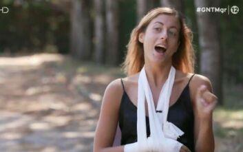 GNTM 3: Χτύπησε το χέρι της η Ίριδα Παπουτσή και την… έπιασαν τα νεύρα της