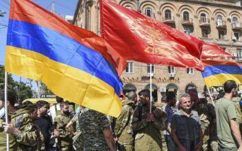 Διαμαρτυρία στη Θεσσαλονίκη κατά της επιθετικότητας του Αζερμπαϊτζάν
