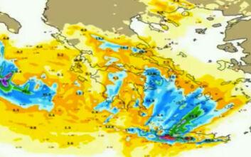Καιρός: Η εξέλιξη της κακοκαιρίας Κίρκη σε χάρτες - Την 28η Οκτωβρίου τα πιο επικίνδυνα φαινόμενα