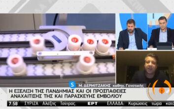 Δερμιτζάκης: Εντός χρονοδιαγράμματος το εμβόλιο στην Ελλάδα - Το παράδειγμα της Ερμού για τον συνωστισμό