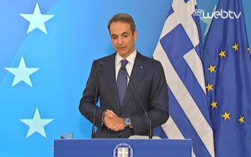 Μητσοτάκης: «Η Ελλάδα τα καταφέρνει καλύτερα σε σχέση με Δυτική και Ανατολική Ευρώπη στο θέμα του κορονοϊού»