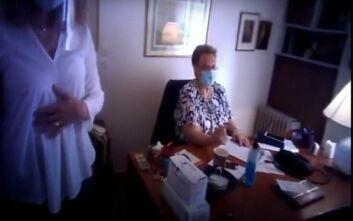 Παρέμβαση του Ρουβίκωνα στο ιατρείο της Ελένης Γιαμαρέλλου