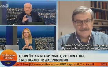 Καθηγητής Παναγιωτόπουλος: Είμαστε στο όριο για ανεξέλεγκτη κατάσταση - Υπό συζήτηση νέα μέτρα